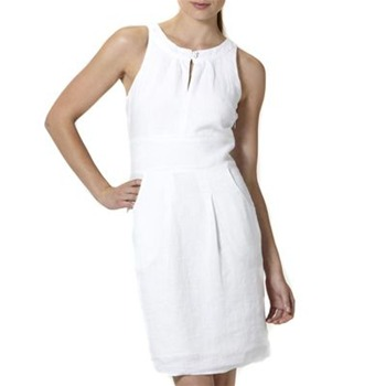 Kookai White Linen Shift Dress