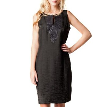 Kookai Black Embroidered Shift Dress