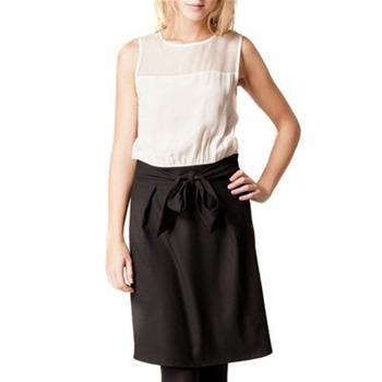 Kookai Black/White Colour Block Dress