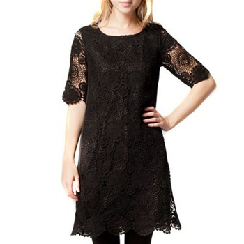 Kookai Black Crochet Shift Dress