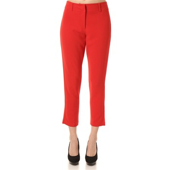 Closet Red Cropped Cigarette Trousers 27