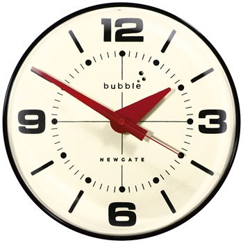 Newgate Clocks Cream/Black Bubble Clock