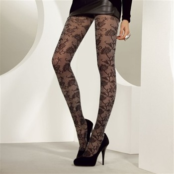 Levante Anthracite Sparkling Hearts Tights