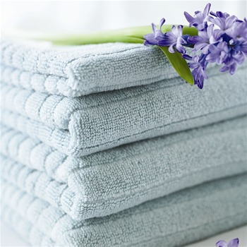 Designers Guild Set of Six Duck Egg Blue Gramercy Park Towels