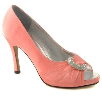 Glitz Occasions Pink Open Toe Shoes 9.5cm Heel