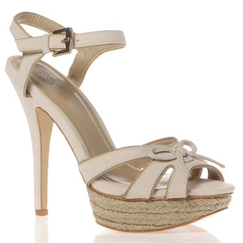 Sinly Shoes Beige Bow Sandals 13cm Heel
