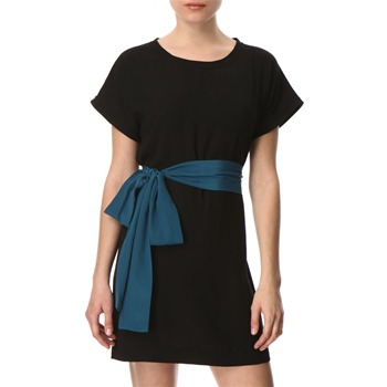 French Connection Black/Teal Solar Sweep Shift Dress