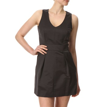 French Connection Dark Grey Gogo Satin Dress
