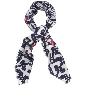 Kookai Navy/White Geometric Print Cotton Scarf