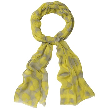 Kookai Yellow/Light Grey Printed Scarf