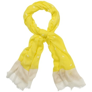 Kookai Yellow Bird Print Scarf