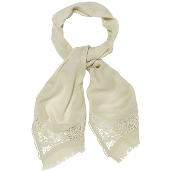 Kookai Cream Lace Trim Scarf