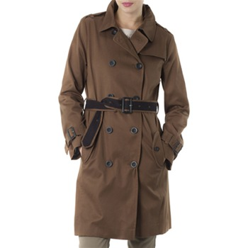 Kookai Chocolate Classic Belted Trench Coat
