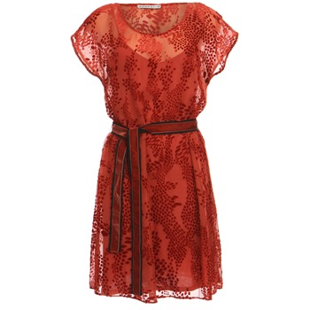 Kookai Red Devore Velvet Dress