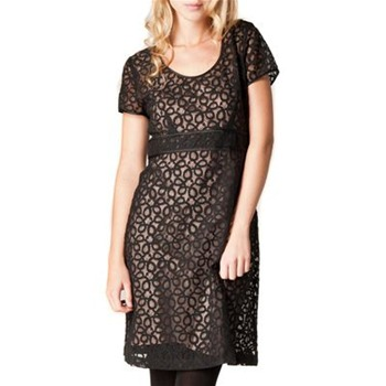 Kookai Black Dentelle Lace Cotton Blend Dress