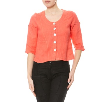 100% lin Coral Lightweight Linen Jacket
