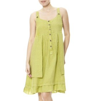 100% lin Lime Linen Summer Dress