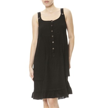 100% lin Black Linen Summer Dress
