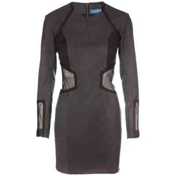 Core Spirit Grey Mesh Insert Pencil Dress