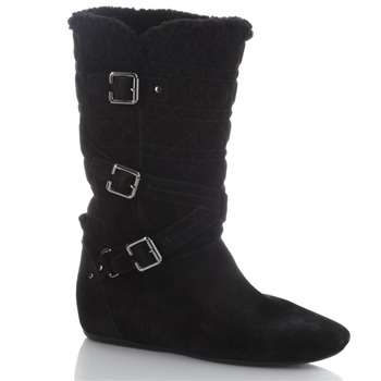 Dior Black Embroidered/Buckle Boots
