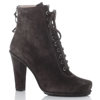 Miu Miu Brown Suede Lace Boots 8cm Heel