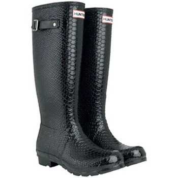 Hunter Black Carnaby Boa Tall Wellington Boots