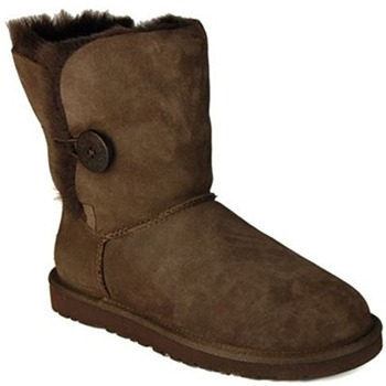 Ugg Australia Chocolate Short Bailey Button Boots