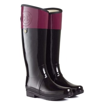 Hunter Berry/Black Regent Carlyle Wellington Boots