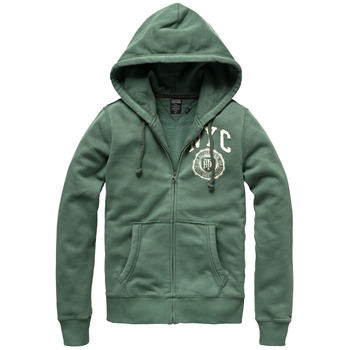 Hilfiger Denim Green Otter Hooded Jumper