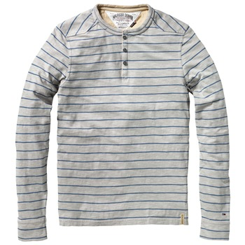 Hilfiger Denim Grey Ilias Henley Stripe Top
