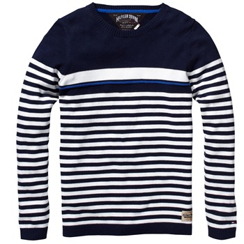 Hilfiger Denim Navy Karl Stripe Jumper
