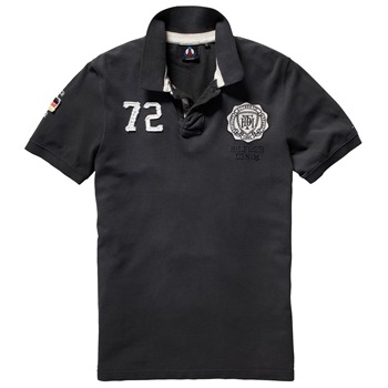 Hilfiger Denim Black Champions Polo Shirt