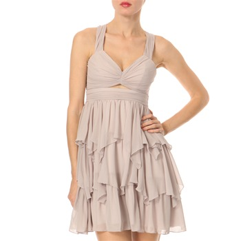 Lipsy Grey Frill Baby Doll Dress