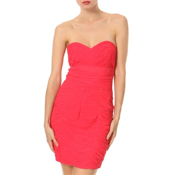 Lipsy Pink Bombshell Ruched Dress