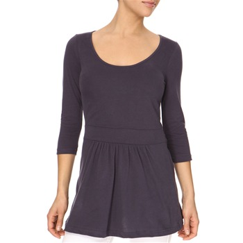 Avoca Anthology Indigo Gathered Waist Jersey Top