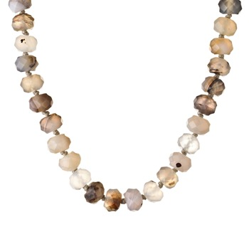 Lola Rose Clear Montana Betty Agate Necklace