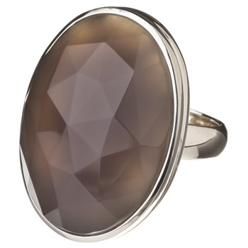 Lola Rose Grey Nuala Agate Stone Ring