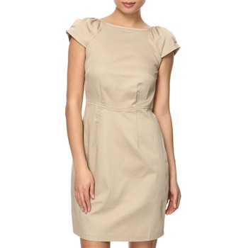 Vivi Boutique Beige Fitted Cotton Dress