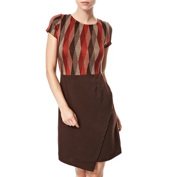Vivi Boutique Red/Brown Triangle Knit Dress