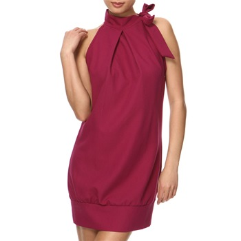 Vivi Boutique Purple Tie Neck Dress