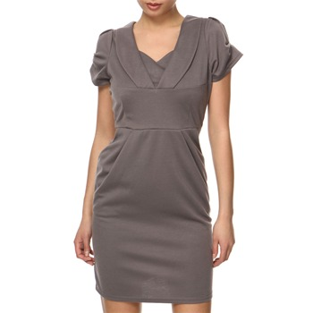 Vivi Boutique Grey V-Neck Jersey Dress