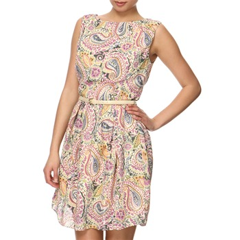 Vivi Boutique Purple/Multi Paisley Print Dress