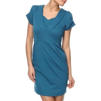 Vivi Boutique Teal V-Neck Jersey Dress