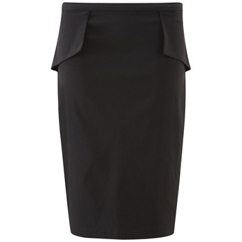 Fever City Black Dita Peplum Skirt