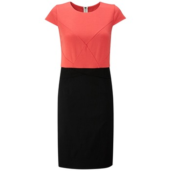 Fever City Coral/Black Kate Dress