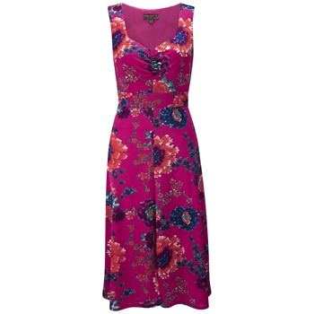 Fever Fuchsia Menorca Mocoa Floral Dress