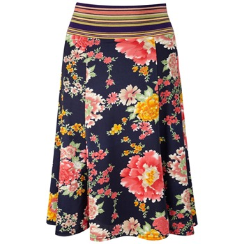 Fever Navy Menorca Floral Skirt