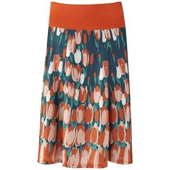 Fever Orange Tulip Print Skirt