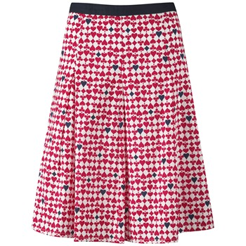 Ruby Belle Red Queen Of Hearts Cotton Skirt