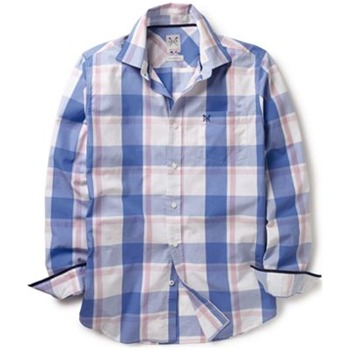 Crew Clothing Blue/White Braydon Check Shirt